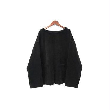 yotsuba - Corduroy Pullover Tops / Black ¥26000+tax