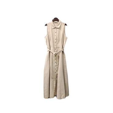 USED - Linen Sleeveless Shirt One-piece ¥15000+tax