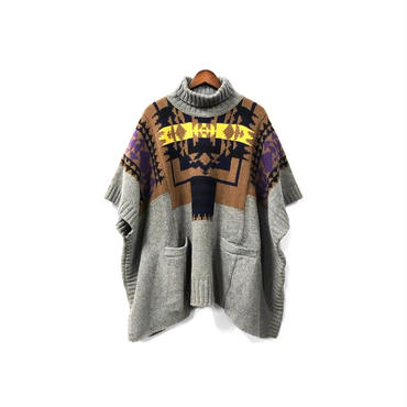 sacai luck - Graphic Knit Poncho (size - 1) ¥16500+tax