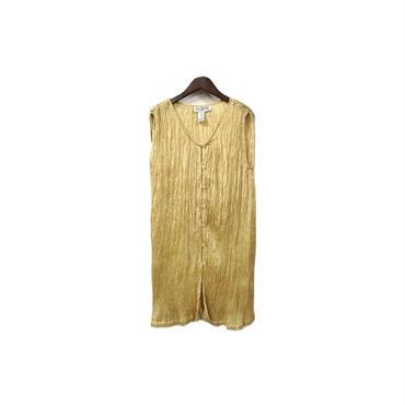 USED - Pleated Sleeveless Long Tops ¥7000+tax