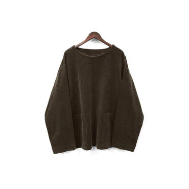 yotsuba - Corduroy Pullover Tops / Brown ¥26000+tax
