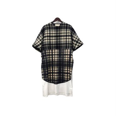 SHAUN SAMSON - Swithing Check Design Pullover Long Cut&Sew (size - XS) ¥16500+tax