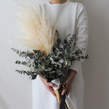 pampas grass bouquet set ~ブーケ・ブートニア~