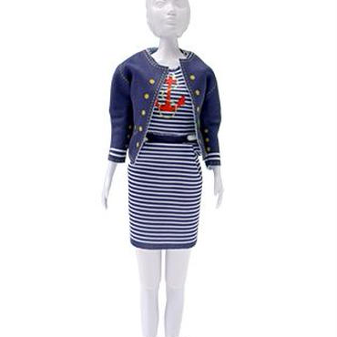 Lev.3 お人形の洋服作り Dress your doll -marin-