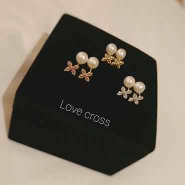 入荷しました!【受注生産】1ヶ月半前後生産  商品名:Love cross ピアス