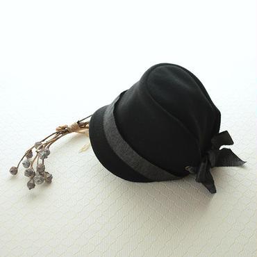 ◇送料無料◇ ウールメルトン帽子 こども用【ブラック】