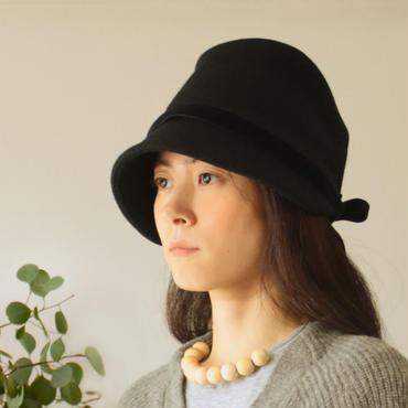 ◇送料無料◇ ウールメルトン帽子【ブラック】レディース