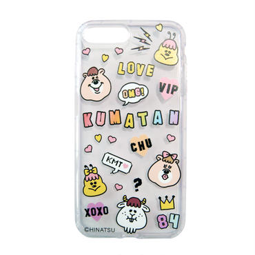 LOVE KUMATAN  iPhone 7 Plus ケース 【KMTG-136】