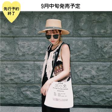 【9月中旬発売予定】キャンバスショルダーバッグ【KMT-257BK】