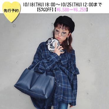 【先行予約5%OFF】フロントポケット付きトートバッグ【KMT-393NV】※11月上旬お届け予定