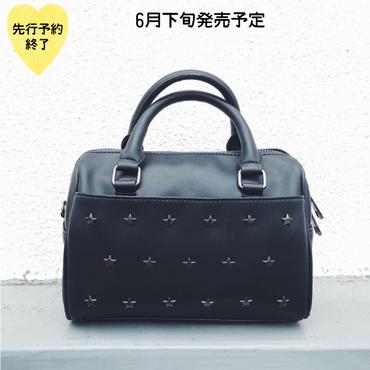 【6月下旬発売予定】星スタッズミニボストンバッグ【KMT-342BK】