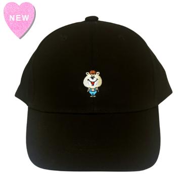 クマタン  刺繍CAP【KMT-379BK】