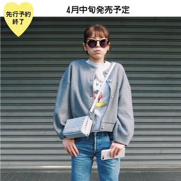 【4月中旬発売予定】ビジューボタンカーディガン【KMT-302GY】