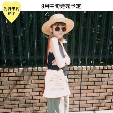 【9月中旬発売予定】キャンバスショルダーバッグ【KMT-257BR】