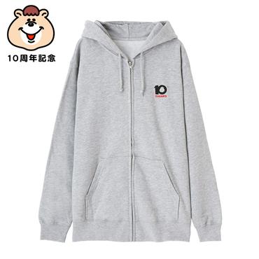 10th記念刺繍ジップパーカー【KMT-299】