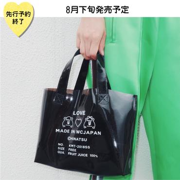 【8月下旬発売予定】ラメプリントビニールトートバッグ【KMT-355A BK】
