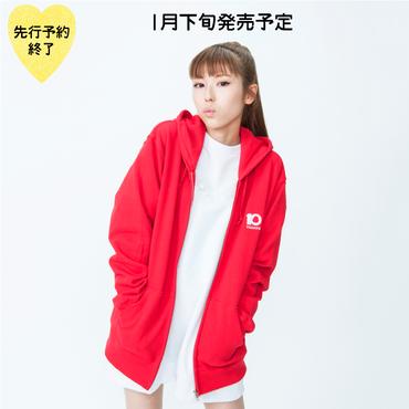 【1月下旬発売予定】10th記念刺繍ジップパーカー【KMT-299RD】