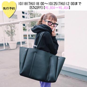【先行予約5%OFF】WCJパンチングトートバッグ【KMT-373BK】※12月上旬お届け予定
