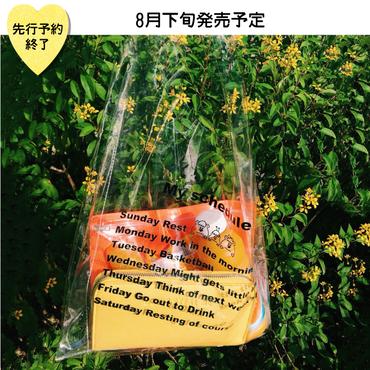 【8月下旬発売予定】お財布付きクリアトートバッグ【KMT-350YL】