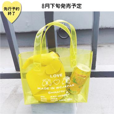 【8月下旬発売予定】ラメプリントビニールトートバッグ【KMT-355A YL】