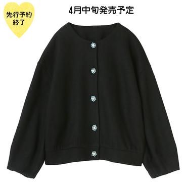 【4月中旬発売予定】ビジューボタンカーディガン【KMT-302BK】