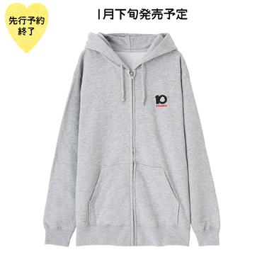 【1月下旬発売予定】10th記念刺繍ジップパーカー【KMT-299GY】