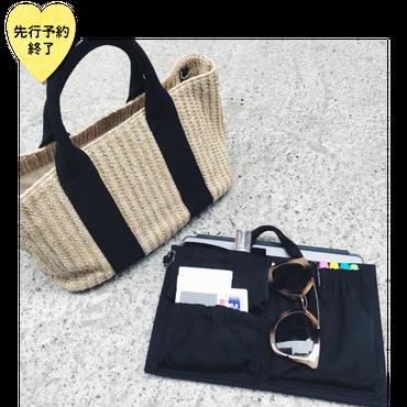 【8月下旬発売予定】バッグINバッグ付きカゴバッグ【KMT-309BK】