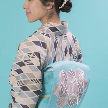 【59kimono】名古屋帯 Mint Drape ミントドレープ 刺繍