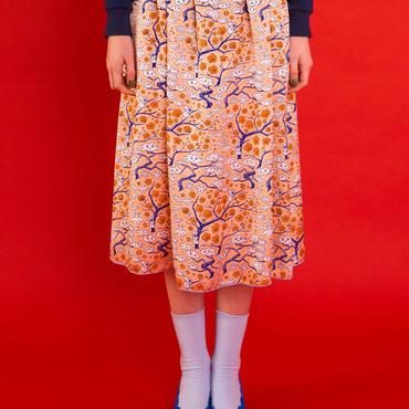 松竹梅プリントスカート(orange)
