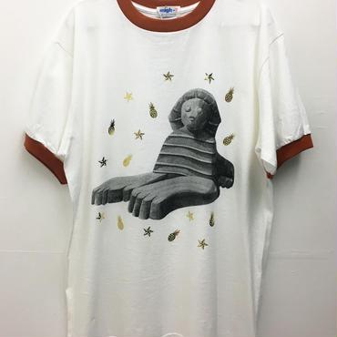 スフィンクスリンガーTシャツ (white-orange)