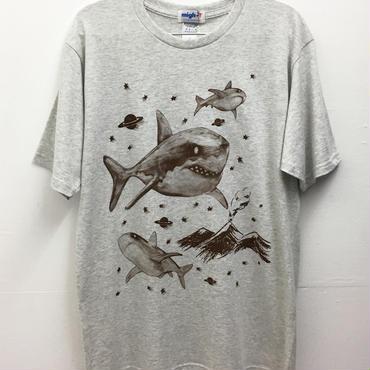 シャークTシャツ (light grey)