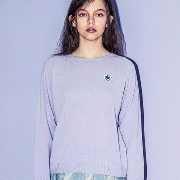 ワンポイントカシミア混セーター(lilac)