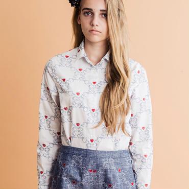 アフタヌーンティー刺繍のシャツ