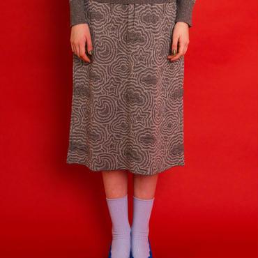 宇宙の石庭のニットスカート (grey)