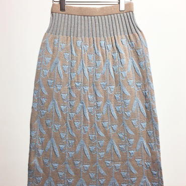 逆さまスズランのニットスカート (beige)
