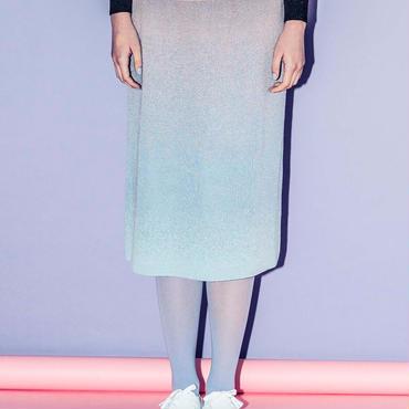 空のグラデーションのニットスカート(pink)