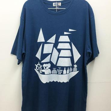 コアラ船インディゴTシャツ (light indigo)