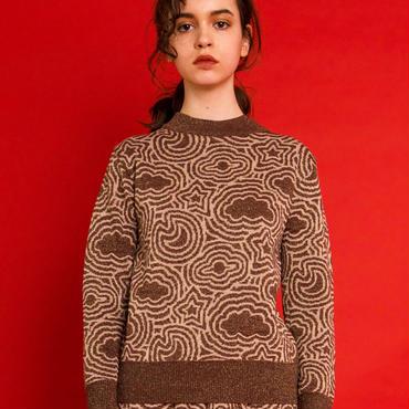 宇宙の石庭のセーター(brown)