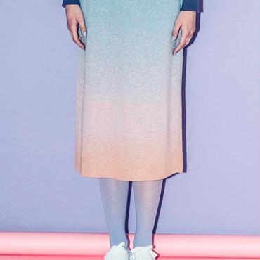 空のグラデーションのニットスカート(light blue)