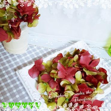アジサイ花びら゚・*:.。❁【オーキッドグリーン】