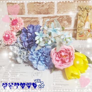 造花 いろいろまとめ売り【ブルー/イエロー/ピンク】