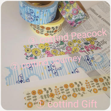 【Papier Platz】デザイナーズマスキングテープ cottind セット販売