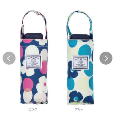 春夏新作!【雨傘】折傘 トートバッグ ドットフラワー ミニ 折りたたみ傘