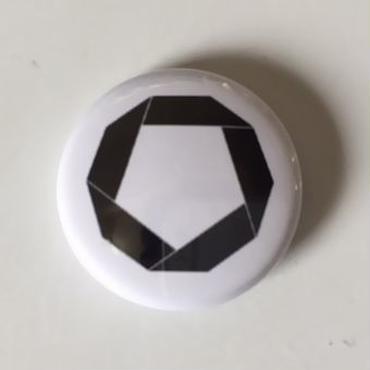 """Kvin. – """" Logo """" Button Badges (Wht X Blk)"""