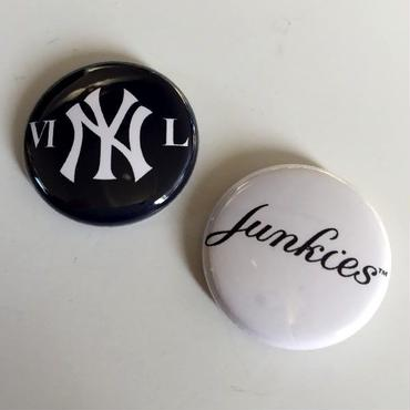 "A.W. Harvest ‎– "" NY series "" Button Badges Pair set"