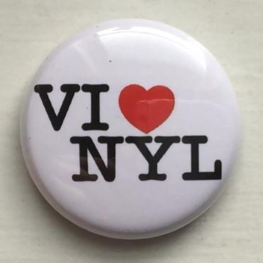 "A.W. Harvest ‎– "" VINYL LOVE "" Button Badges"