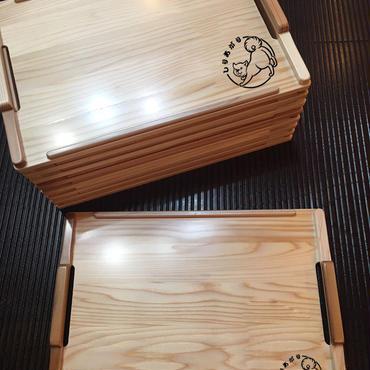 注文生産/予約締切~2/5【しりあがり】杉のトレイ s 送料込