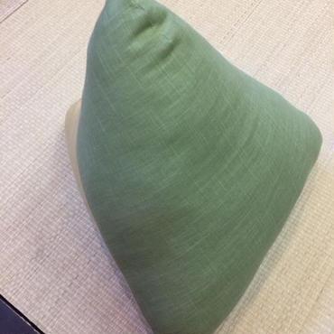 三角枕  むら糸 草 × うこん