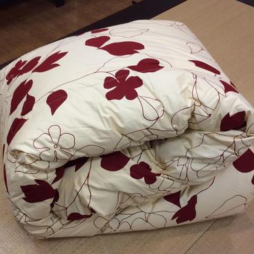 西川リビング  羽毛布団 : シングルサイズ     レッド/ブラウン