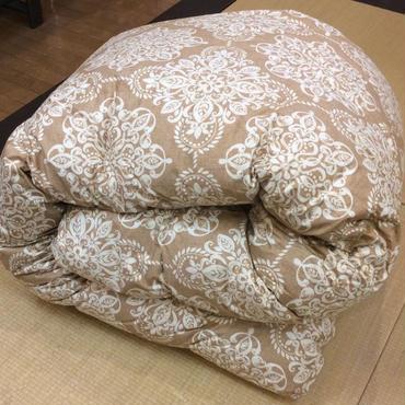 西川リビング 羽毛布団:シングルサイズ    ベージュ/ブルー